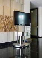 Stainless steel tv stand