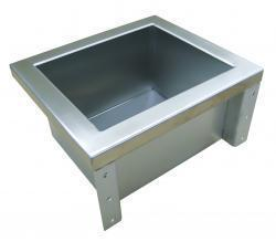 Stainless steel basin for wall mounting