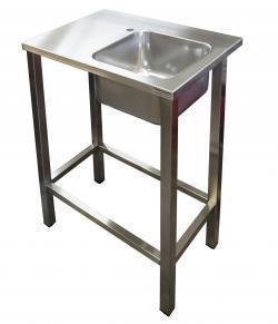 Stainless steel industrial sinks